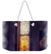 Faded Purple Stained Glass Window Photo Art Weekender Tote Bag