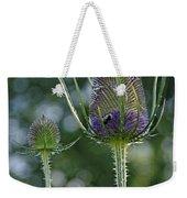 Fading Teasel Flower Weekender Tote Bag