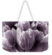 Fading Tulip Flowers Lavender Gray Monochrome Weekender Tote Bag