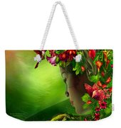 Fae In The Flower Hat Weekender Tote Bag