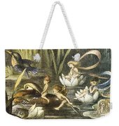 Fairies And Water Lilies Circa 1870 Weekender Tote Bag