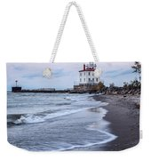 Fairport Harbor Breakwater Lighthouse Weekender Tote Bag