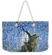 Fairy Under Blue Blossom Weekender Tote Bag