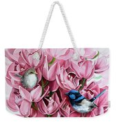 Fairy Wrens And Orchids Weekender Tote Bag