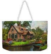 Fairytale House. Giethoorn. Venice Of The North Weekender Tote Bag