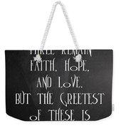 Fait Hope Love Weekender Tote Bag