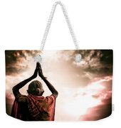 Faith And Prayers For Peace Weekender Tote Bag by Nila Newsom