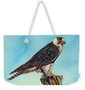 Falcon On Stump Weekender Tote Bag