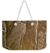 Falcon Symbol For Horus In A Crypt In Temple Of Hathor In Dendera-egypt Weekender Tote Bag