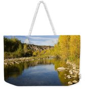 Fall Along River Sierra Ancha Weekender Tote Bag