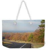 Fall Along The Country Highway 2 Weekender Tote Bag