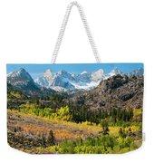 Fall Aspen Below The Sierra Crest Weekender Tote Bag