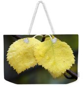 Fall Aspen Leaves After A Rain Weekender Tote Bag