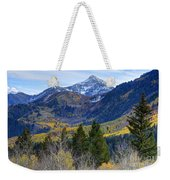 Fall At Cascade Peak And Sundance From Alpine Loop  Weekender Tote Bag