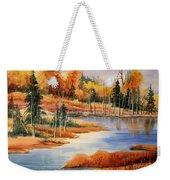Fall At Elk Island  Weekender Tote Bag