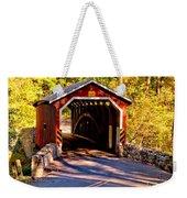Fall At Kurtzs Mill Covered Bridge Weekender Tote Bag