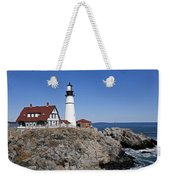Fall At The Lighthouse Weekender Tote Bag
