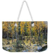 Fall At The River Weekender Tote Bag