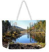 Fall Beaver Dam Weekender Tote Bag
