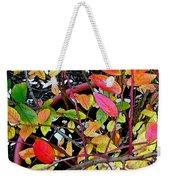 Fall Blueberry Bush Weekender Tote Bag