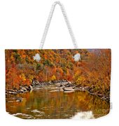 Fall Brilliance At New River Weekender Tote Bag