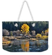 Fall Brilliance On Warm River Weekender Tote Bag
