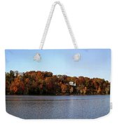 Fall By The River Weekender Tote Bag