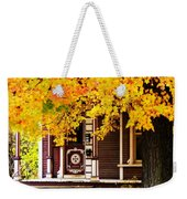 Fall Canopy Over Victorian Porch Weekender Tote Bag