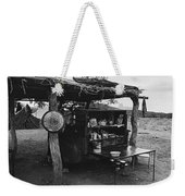 Fall Cattle Round-up Tohono O'odham Reservation Cook's Work Area Hanging Meat For Curing Near Sells  Weekender Tote Bag