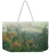 Fall Color And Fog Near Garberville California Weekender Tote Bag
