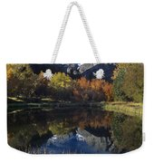 Fall Color And Reflection Below Middle Palisades Glacier California Weekender Tote Bag