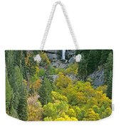 Fall Color And Waterfalls In Provo Canyon Utah Weekender Tote Bag