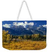 Fall Color Tetons Blacktail Ponds Grand Tetons Nationa Weekender Tote Bag