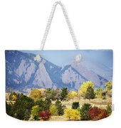 Fall Colors Along The Flatirons Weekender Tote Bag