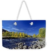 Fall Colors Along The Naches River Weekender Tote Bag
