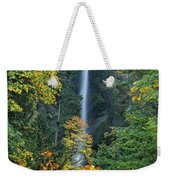 Fall Colors Frame Multnomah Falls Columbia River Gorge Oregon Weekender Tote Bag
