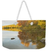 Fall Colors On Taylor Pond Mount Vernon Maine Weekender Tote Bag by Keith Webber Jr