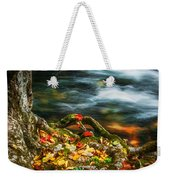 Fall Colors Stream Great Smoky Mountains Painted  Weekender Tote Bag