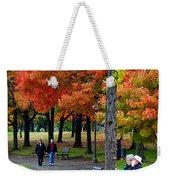Fall Couples Weekender Tote Bag