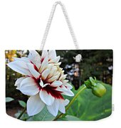 Fall Dahlia Weekender Tote Bag