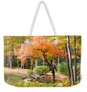 Fall Folage And Pond 2 Weekender Tote Bag