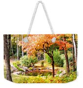 Fall Folage And Pond Weekender Tote Bag