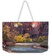 Fall Foliage Along The Virgin River Weekender Tote Bag