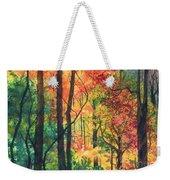 Fall Foliage Weekender Tote Bag by Barbara Jewell