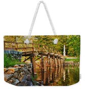 Fall Foliage Over The North Bridge Weekender Tote Bag
