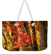 Fall Forest Detail Weekender Tote Bag