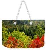 Fall Forest Rain Storm Weekender Tote Bag by Elena Elisseeva
