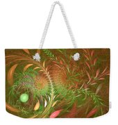 Fall Fractal Fields Weekender Tote Bag