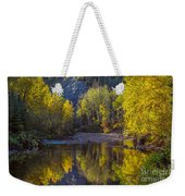Autumn Reflections In Fort Mcmurray Weekender Tote Bag