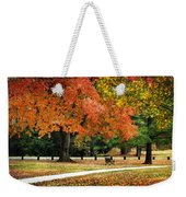 Fall In The Park Weekender Tote Bag by Christina Rollo